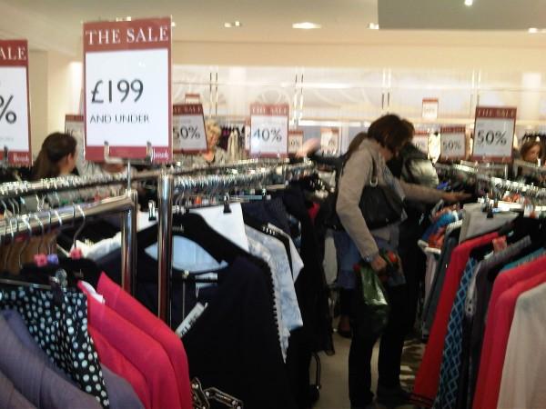 shopping chaos
