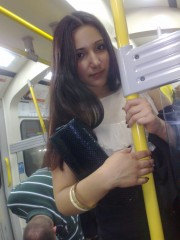 nina på tunnelbanan