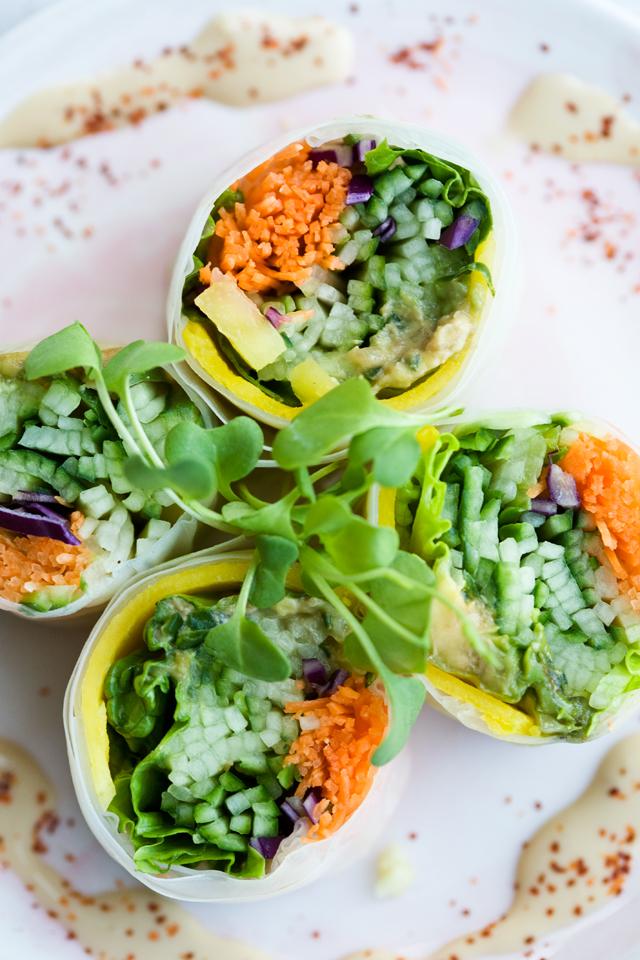 Vegan fresh recipe wrap rolls vegetarian