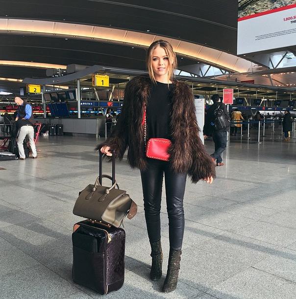 kayture Kristina Bazan airport louis vuitton bag carry on celine