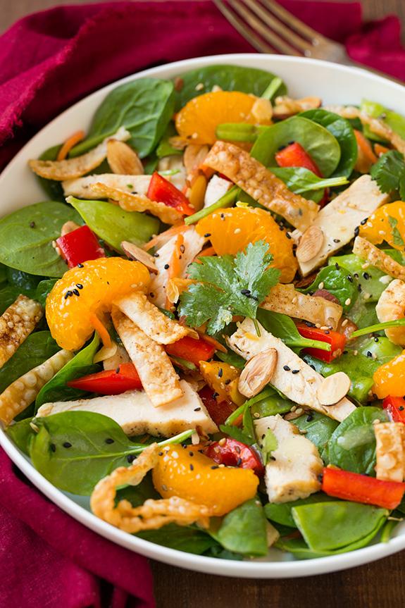 mandarin chicken salad veggies recipe