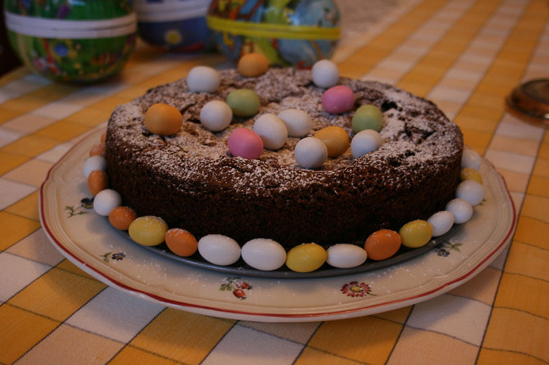 Easter cake chocolate mud cake healthier version coconut oil