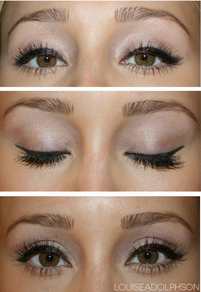 winged eyeliner shimmer eye shadow loreal gel matic