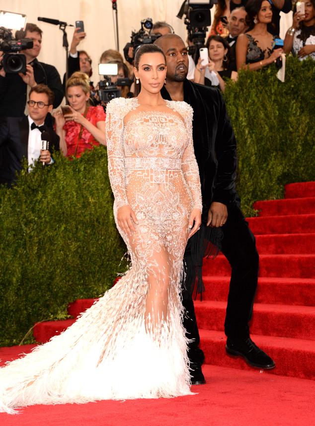 kim kardashian met gala 2015 kanye west