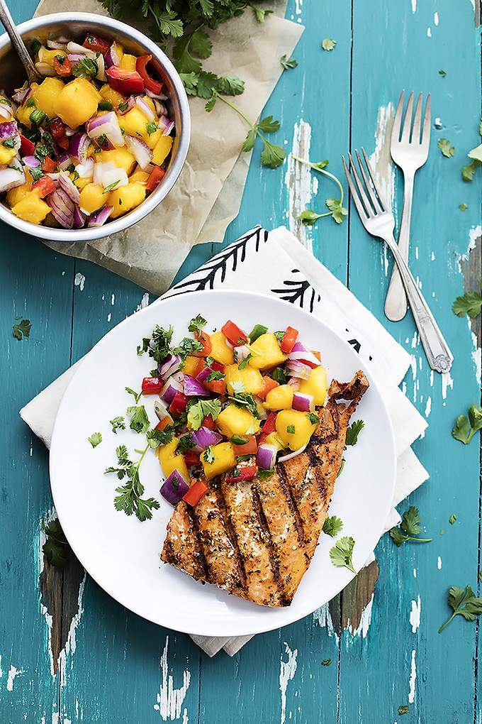 grileld salmon with mango salsa recipe
