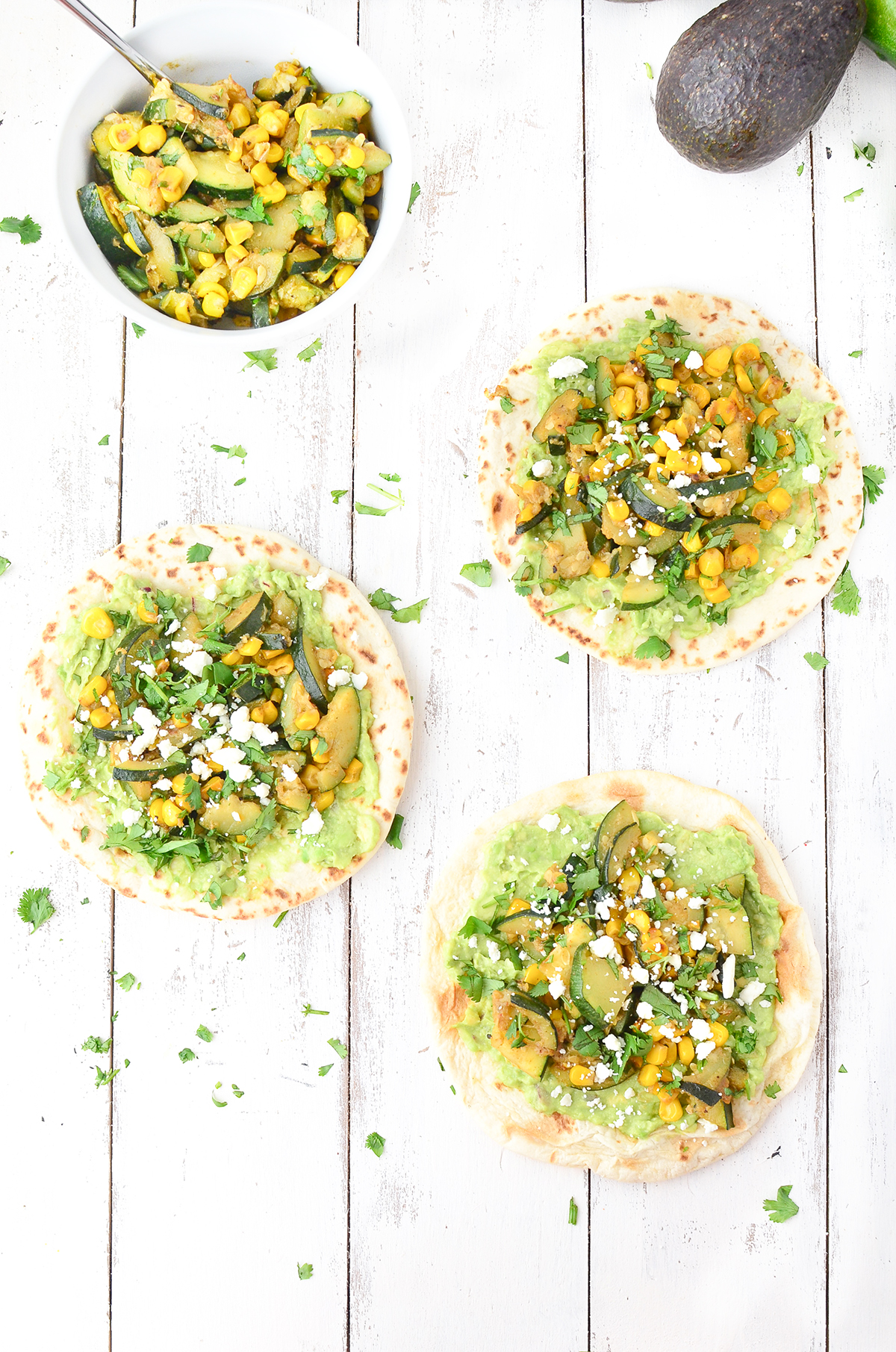 zucchini and corn vegan tacos