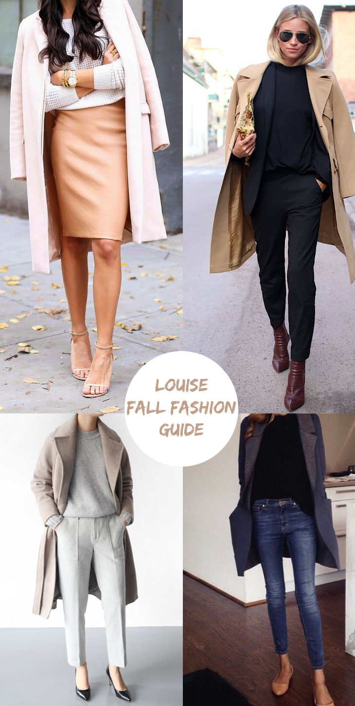 louise fall fashion guide coats jackets for fall 2015 suede leather jackets trench coats tweed jackor kappor
