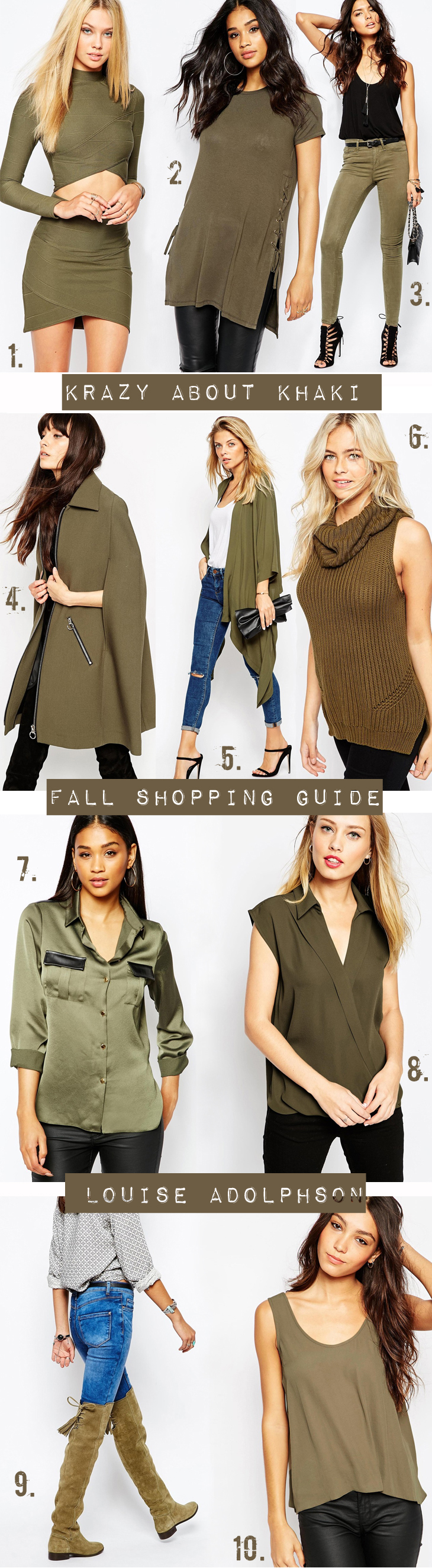 krazy about khaki khaki clothes fall fashion autumn kim kardashian