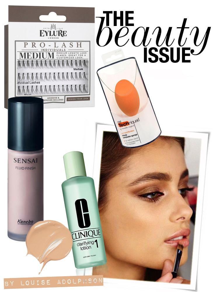 clinique lotion 1 sensai fluid finish foundation real techniques miracle spong eylure eye lashes louise beauty edit