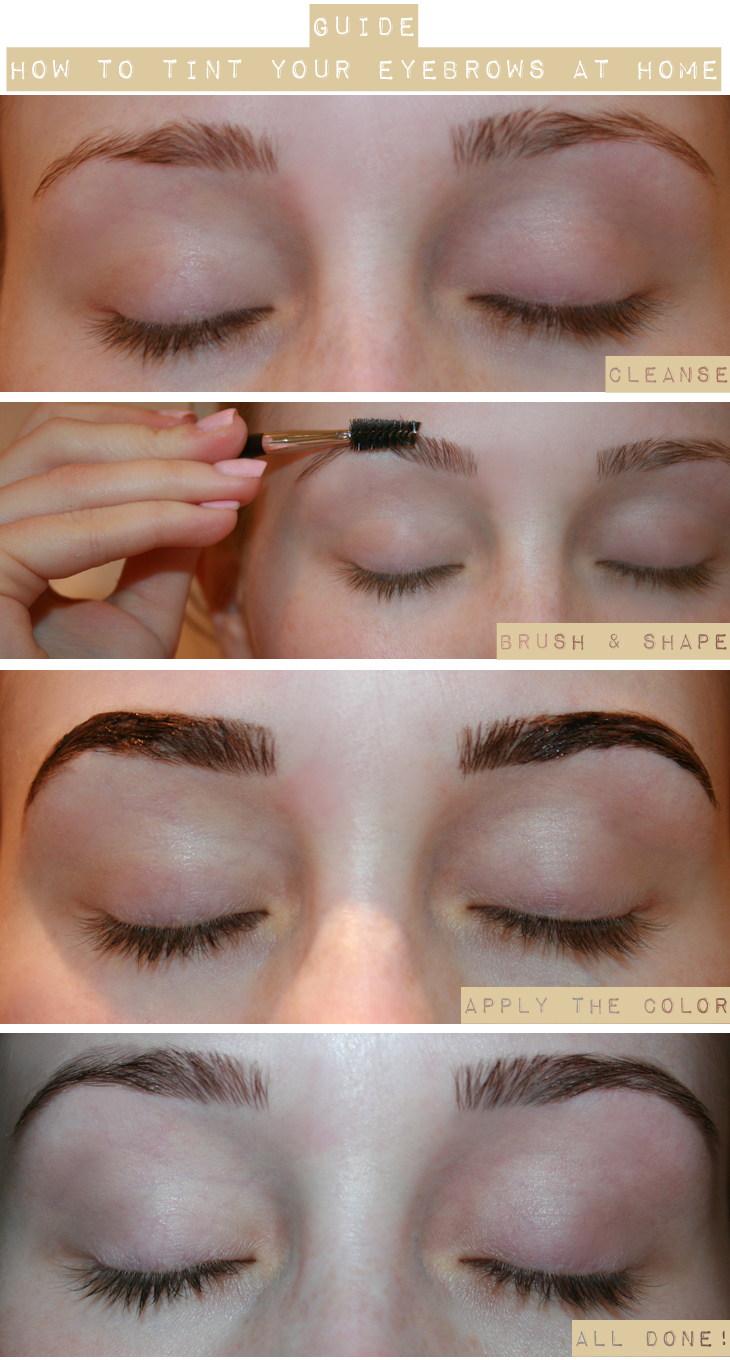 how to tint your eye lashes at home refectocil ögonfransfärg brynfärg depend refectocil