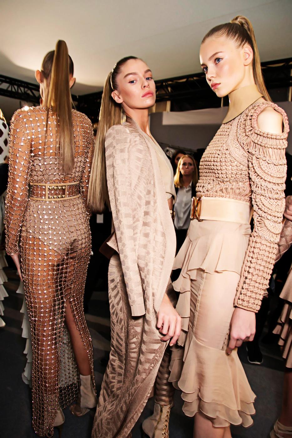 balmain fashion show 2015 olivier roustieng kim kardashian