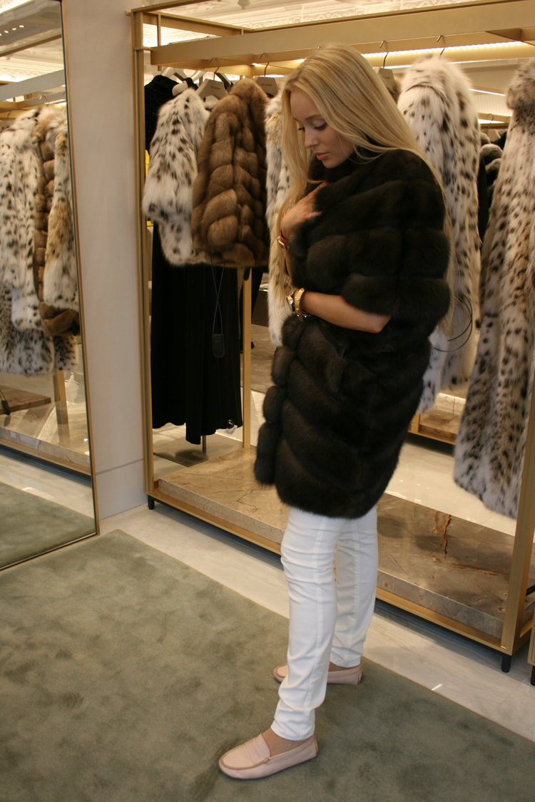 yves salomon fur jacket harrods