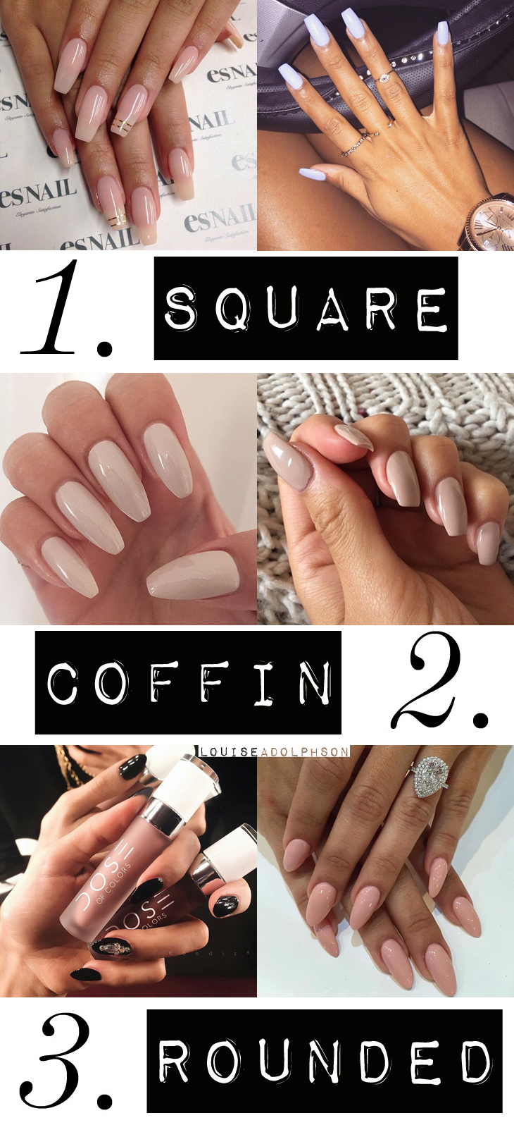 the most popular nail shapes