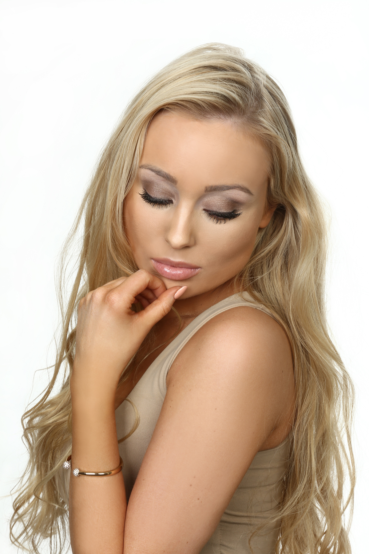 Louise adolphson perfect eye make up bronze brown loreal la palette nude
