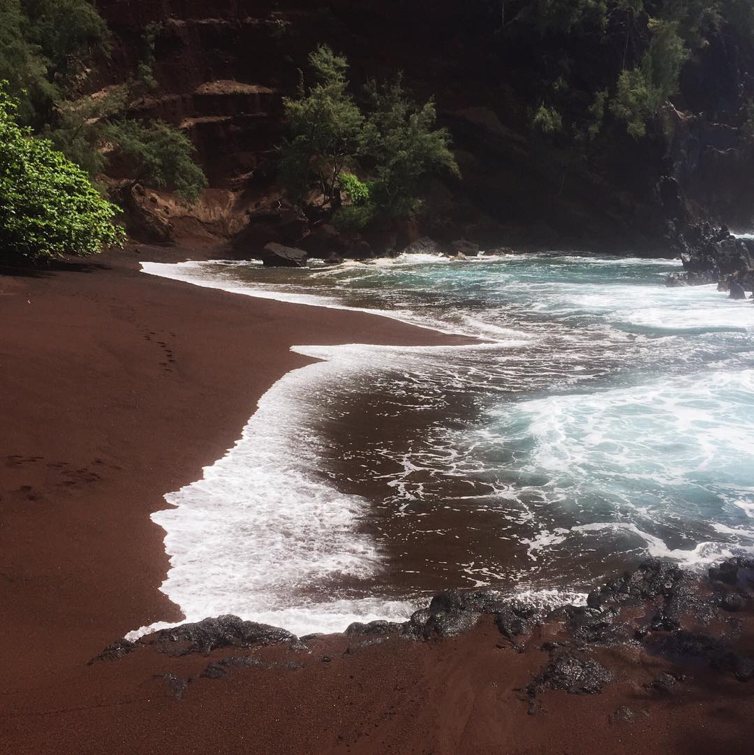 black beach exotic holiday