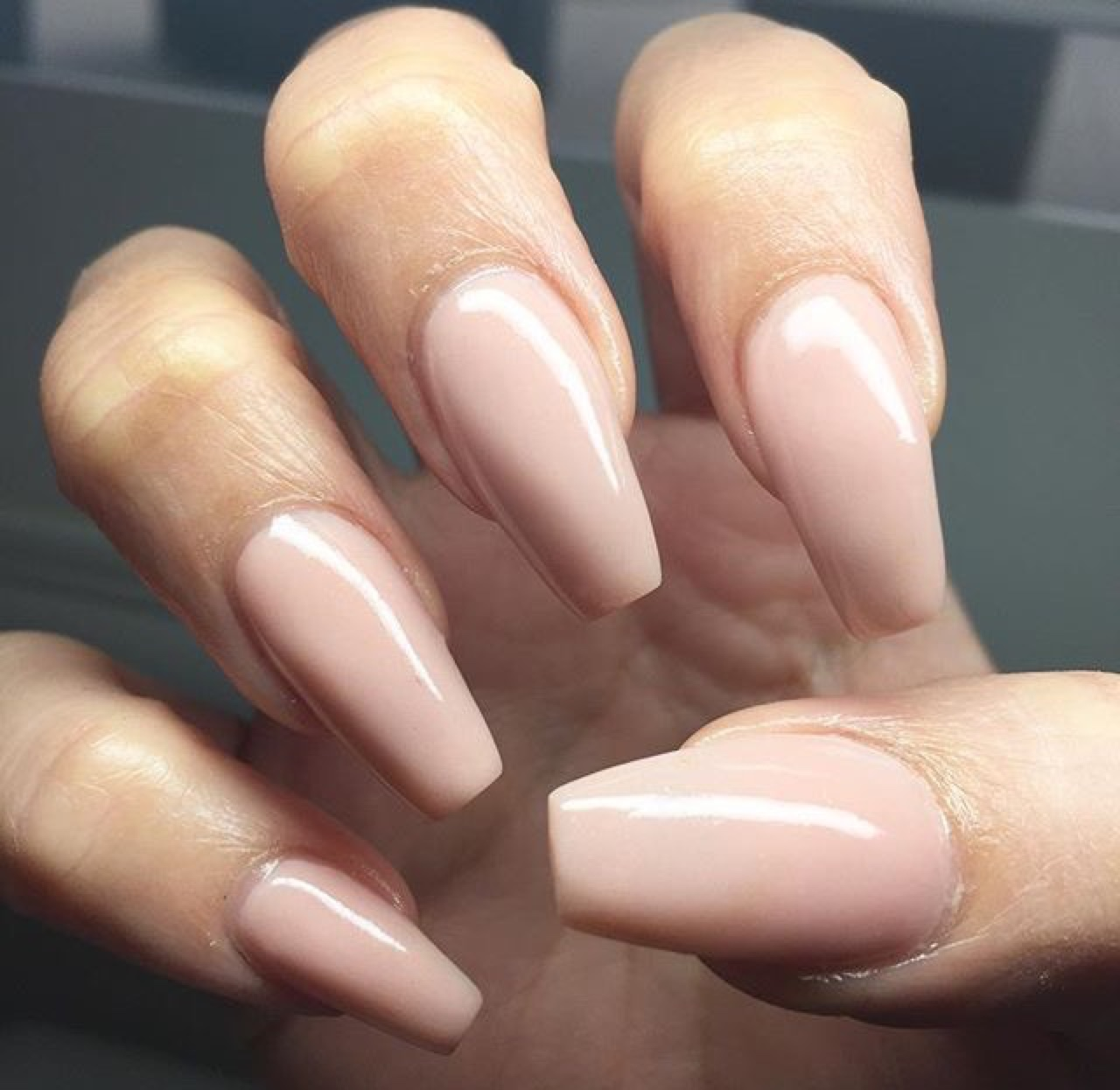 nude pink nails long nail swag nail inspo
