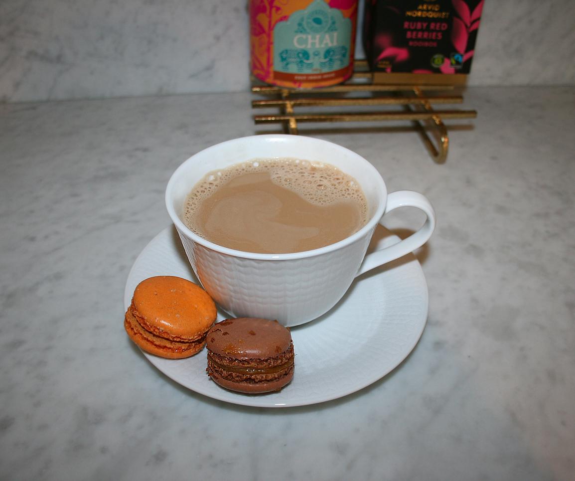 chai latte espresso house salted caramel macarons