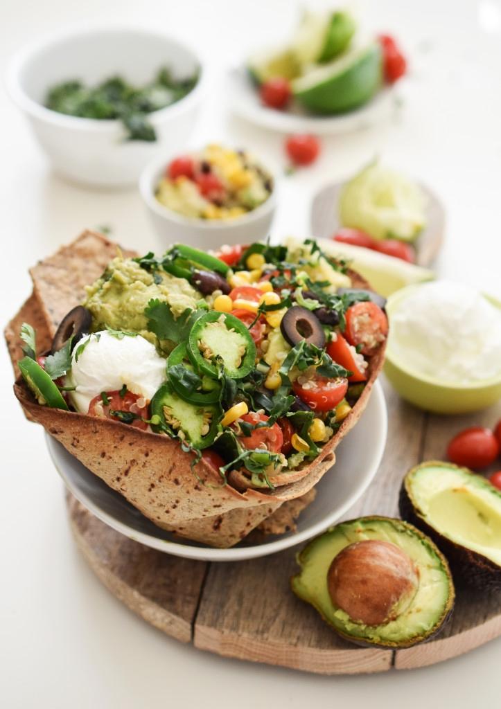 vegan Baked Taco Salad