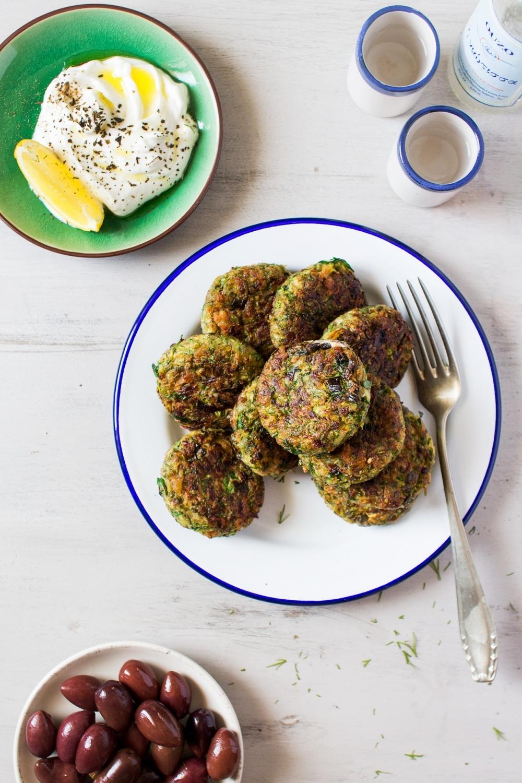 vegan Vegan Greek zucchini fritters