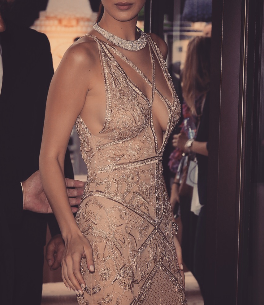 bella hadid couture dress gala