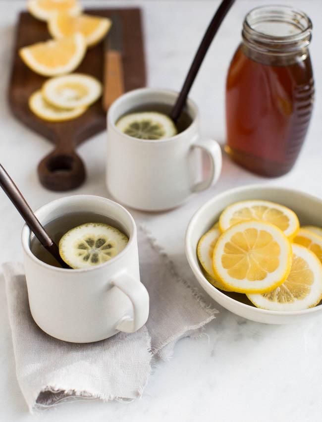 healthy ginger tea lemon honey