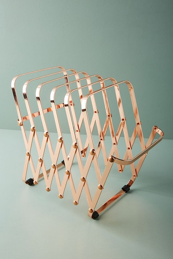 paper holder rose gold
