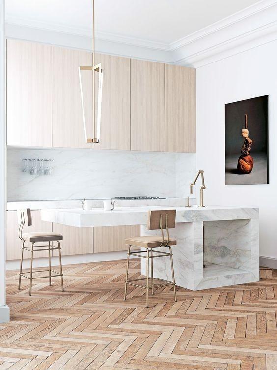 modern meets marble