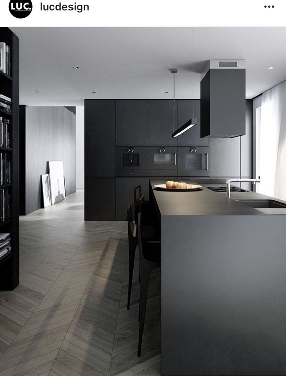 super sleek manly kitchen